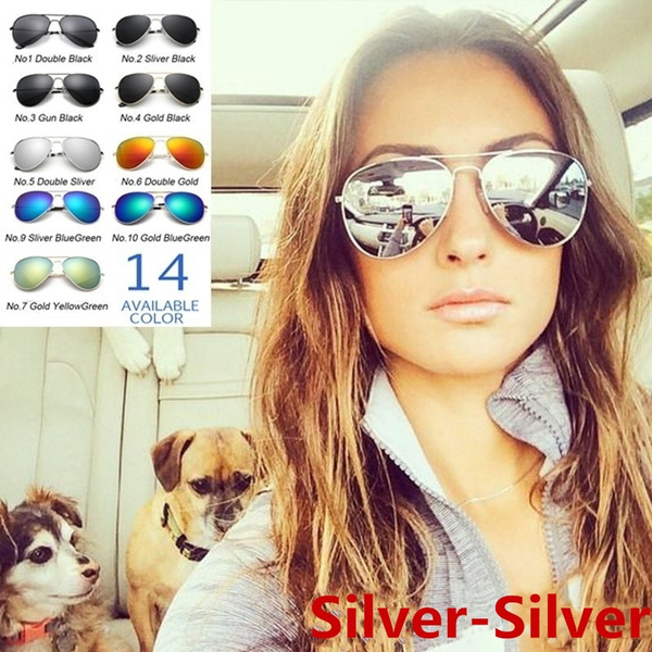 Aviator Sunglasses, cool sunglasses, Outdoor Sunglasses, silverysunglasse