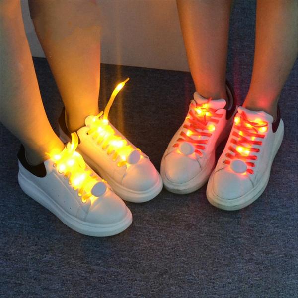 Shoelaces For Christmas.Led Luminous Sport Shoe Laces Glow Shoestring Led Shoelaces Light For Christmas Festival Home Party Decoration No Tie Lazy Shoe Laces