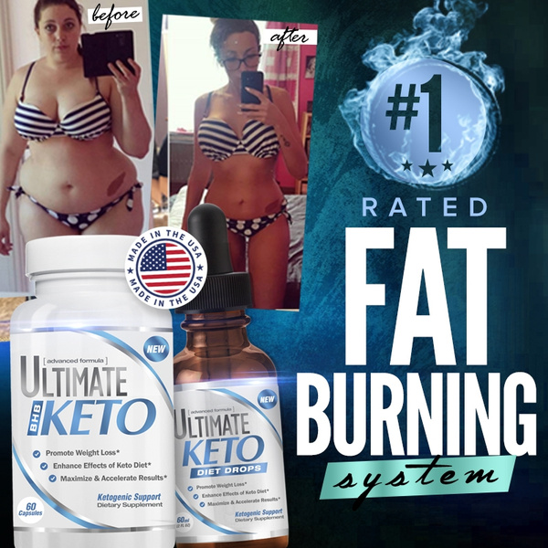 Keto Booster Pills and Diet Drops for Weight Loss and Ketogenic Support -  Made In USA