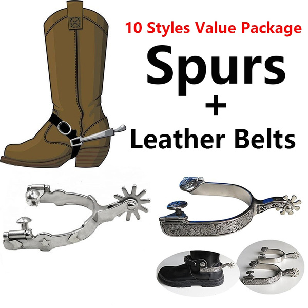 WESTERN COWBOY BOOT SPURS HALLOWEEN COSTUME ACCESSORY