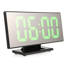 despertador, mirroralarmclock, led, Clock
