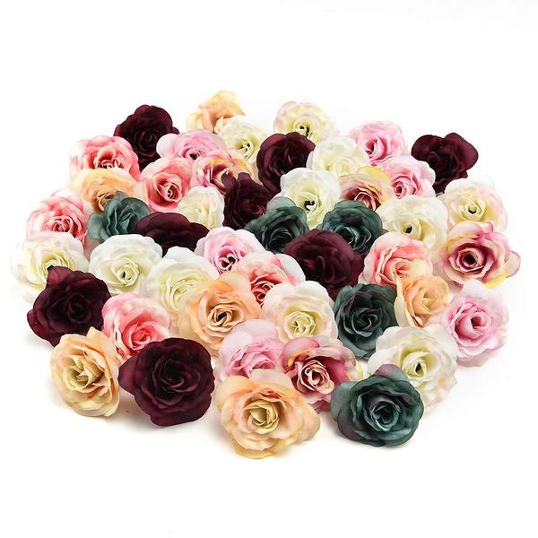 10Pcs Artificial Silk Peony Flower Heads Wedding Birthday Party Home DIY Decors~