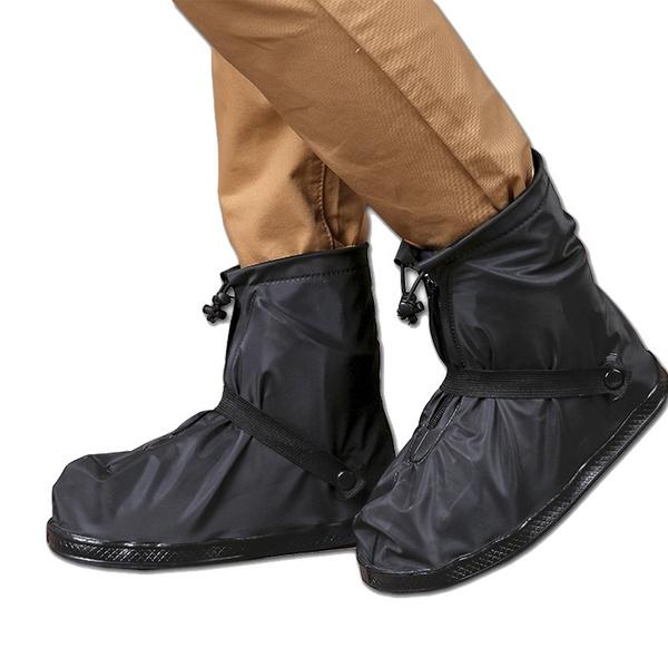 Reusable Waterproof Rain Snow Shoe Covers Overshoes Mens Womens Anti-slip Boots