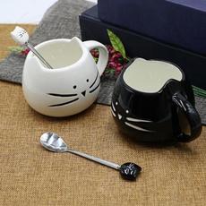 cute, Ceramic, soupspoon, Dessert