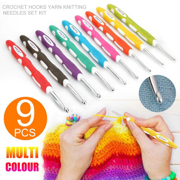 sewing Metal crochet hook 4.0mm ergonomic needle for crafts knitting tool art