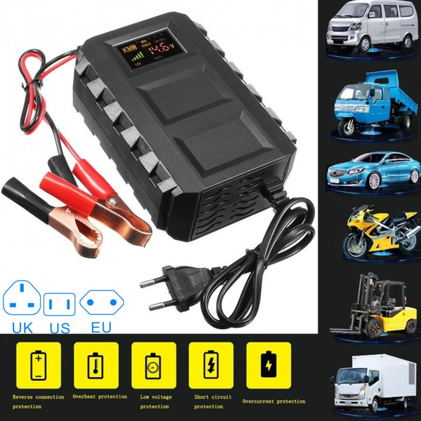 Intelligent 12V 20A Automobile Lead Acid Battery Charger Car Motorcycle  EU NEW