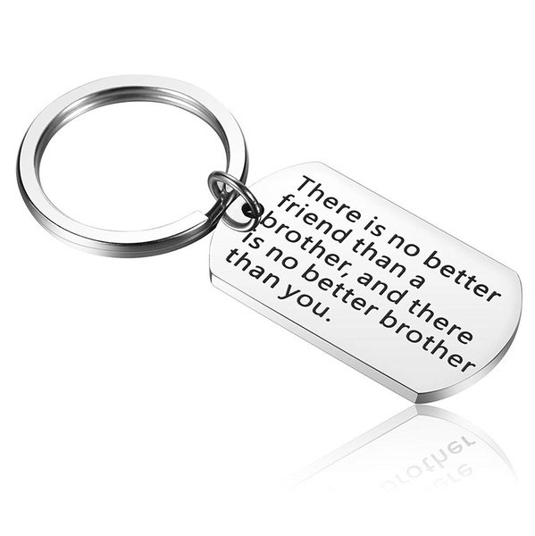 Brother Keychain Birthday Gifts Big Gift For Men Little Christmas