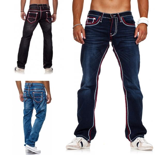 men's jeans, Plus Size, Winter, pants