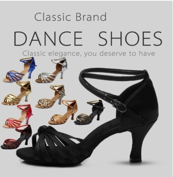 7af8aa2a9 New Style of Women's Girls Latin Dance Shoes Ballroom Tango Salsa ...