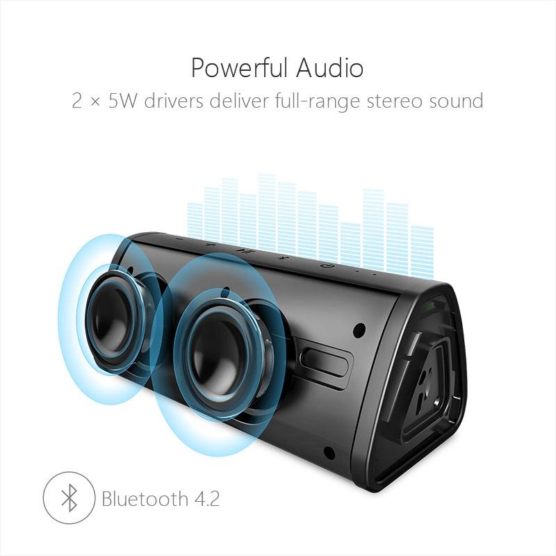 Портативный беспроводной динамик Mifa музыкальная Bluetooth-колонка 10W со стерео звуком и защитой от влаги