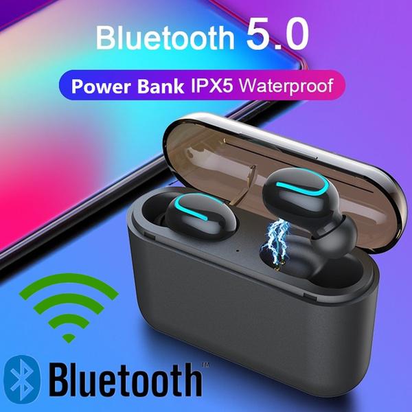 Headphones Bluetooth Headset Mini in-Ear Earphones with 2600mAh Charging Case