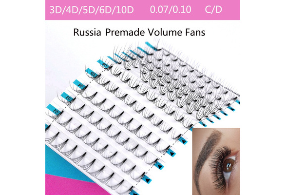 26415c3aa66 SKONHED 12 Lines 3D/4D/5D/6D/10D Woman's Fashion Semi Permanent C/D Curl  0.07 0.10 Thickness False Eyelashes Individual Eyelashes Extension Premade  Volume ...