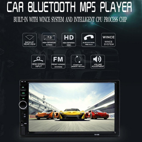 Autoradio 2 Din General car video player 7'' inch LCD Touch Screen Car  Radio Player Bluetooth Car Audio Support Rear View Camera 7018B