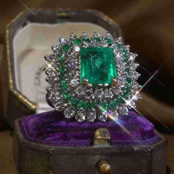 Antique, DIAMOND, art, wedding ring