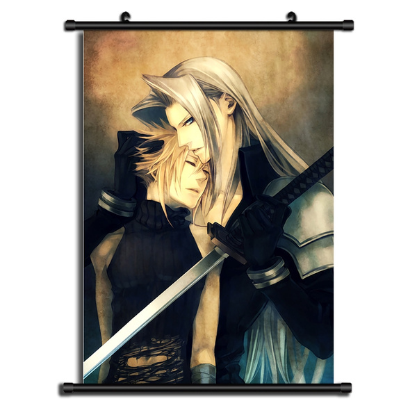 Final Fantasy Cloud Anime Manga Wall Poster Scroll