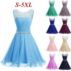 lace dresses, Fashion, high waist, A-line