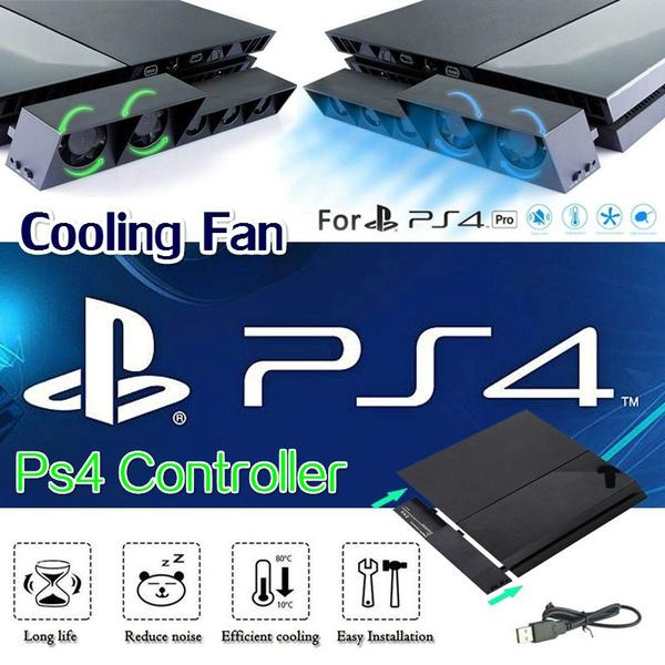 DOBE New Set PS4 Pro Cooler-USB External 5-Fan Super Turbo + PS4 Pro USB  HUB-(1×3 0)-(4×2 0)-5-USB Ports Cable Adapter