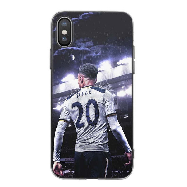 wholesale dealer 44f55 e7f07 Dele Alli 001 Clear Ultrathin Shockproof Soft TPU Phone Case Cover for  IPhone and Samsung