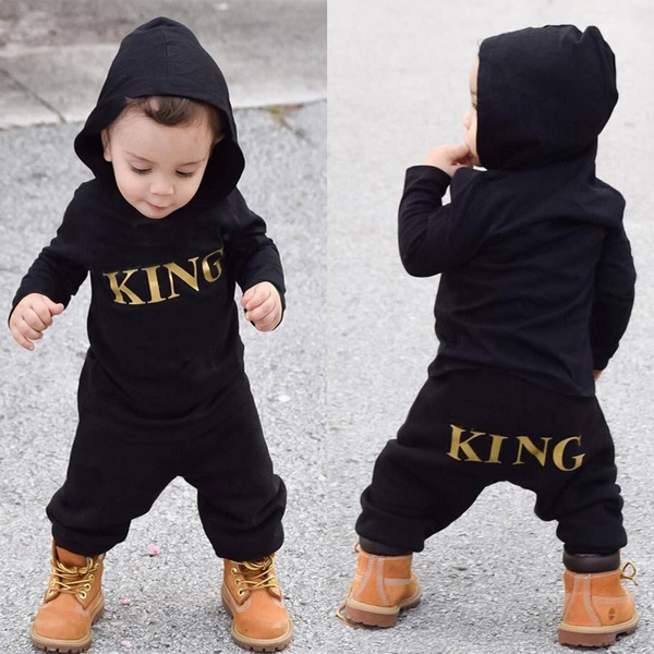 Clothes, King, hooded, printed
