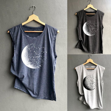 Summer, Fashion, moonpattern, Women Blouse