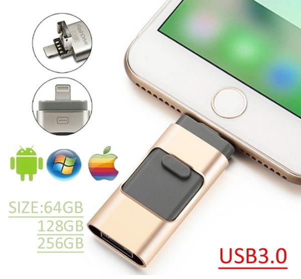 2019 Utools 3 in1 Usb flash drive For iPhone/iPad/Android/PC i-Flashdrive  Pen Drive /Otg Usb Flash stick