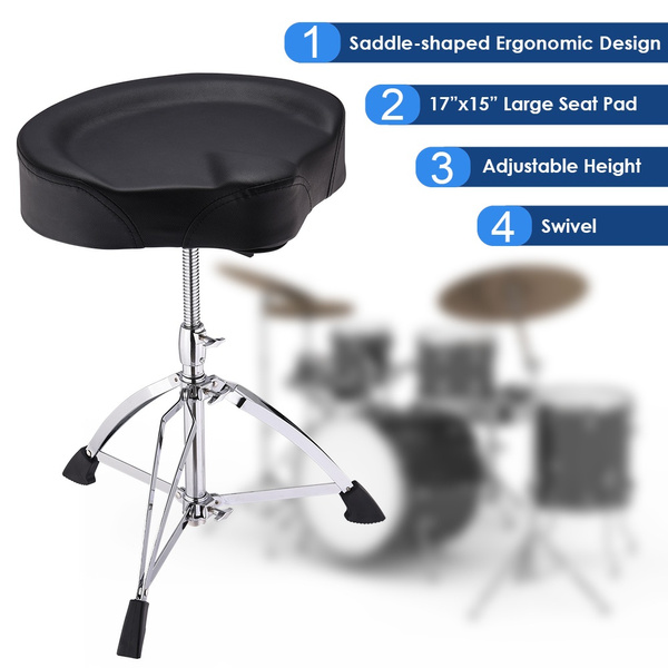 Enjoyable Andyes Saddle Drum Throne Drummer Stool Round Seat Chair Adjustable Height Folding Stand Percussion Hardware Large Caraccident5 Cool Chair Designs And Ideas Caraccident5Info