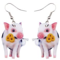 earringsforkid, piggift, Flowers, Jewelry