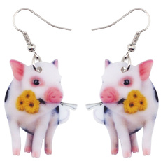 earringsforkid, piggift, Flowers, Jewelry