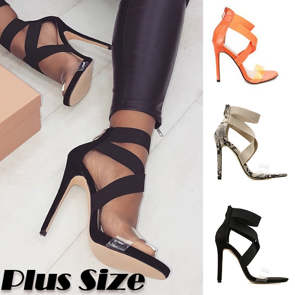 Plus Size Women/'s Hollow Out High Heels Peep Toes Stiletto Sandals Fashion Shoe