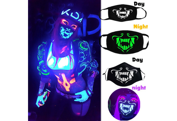 Unisex KDA Akali Glow In the dark Mouth Mask Face Mask  Mask