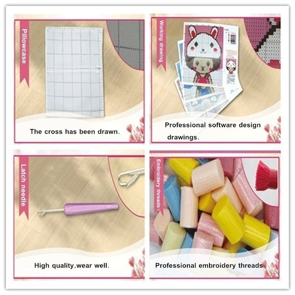 Diy Latch Hook Kit Sewing 16x16 Inch Fuzzy Rugs Sofa Seat Pillow Mat Includes Canvas Tool Acrylic Yarn Handmade Crochet Hand Crafts For Baby Kids Adults Gifts D245 Wish