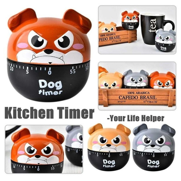Dog Timer Kitchen Timer Cute Cooking Gadget Tool Fun Collectible For Pet Moldes De Silicona Para Reposteria Kitchen Accessories