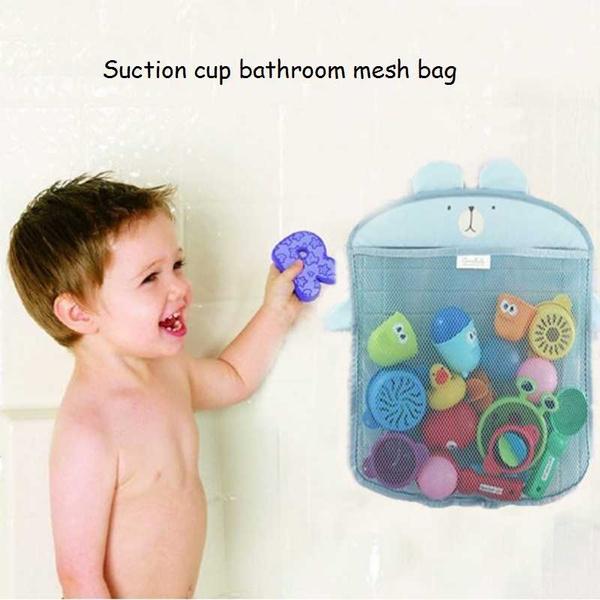 Delicieux Bathtub Organizer Bags Holder Storage Basket Kids Baby Shower Toys Net  Bathroom Accessories