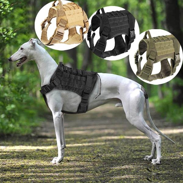 Adjustable Dog Training Patrol Dog Vest Suit Harness Dog Coat Military Adjustable Molle Nylon Vest M L