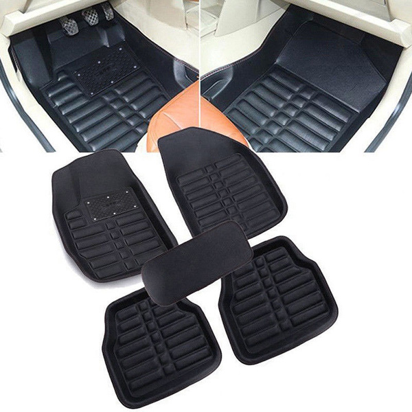 Leather Luxury Car Mats Fashion 5pcs