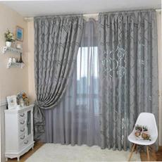 bedroomcurtain, Flowers, leaf, drapesgauze