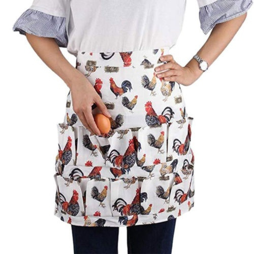 Home, Furniture & DIY Kitchen Aprons 12 15 Pockets Egg Collecting Harvest Apron Chicken Farm Work Aprons Carrier
