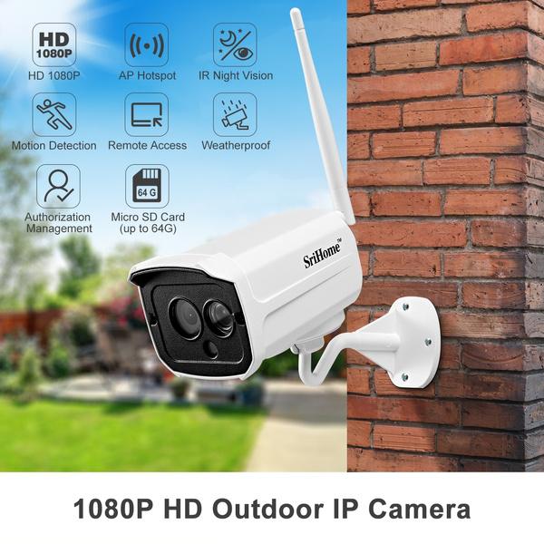 Srihome Wireless WiFi 1080P AP IP Network Camera Outdoor CCTV Security IR Night
