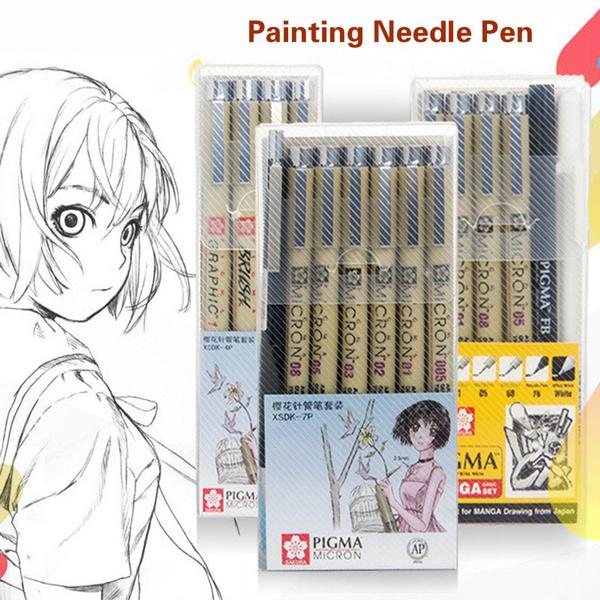 Japanese cherry needle pen waterproof hook line comic drawing brush stationery