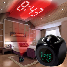 projectionalarmclock, thermometerclock, Clock, Home & Living