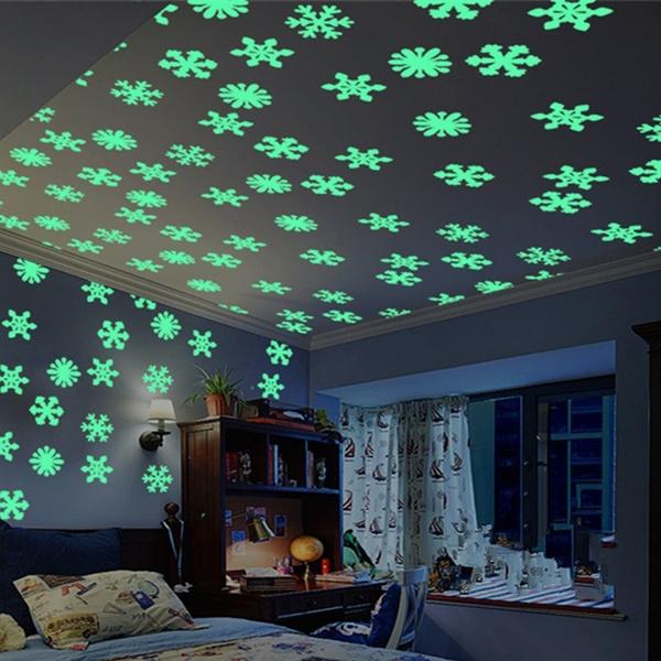 50pcs Glow in dark Stars Kids Room Ceiling Luminous Fluorescent PVC Wall Sticker