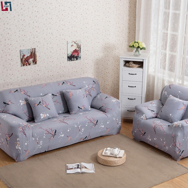 Surprising Yeahmart 1 Seater 2 Seater 3 Seater Gray Jacquard Armchair Cover Loveseat Slipcover Sofa Couch Protector Stretch Elastic Cover Pillowcase Washable Beatyapartments Chair Design Images Beatyapartmentscom