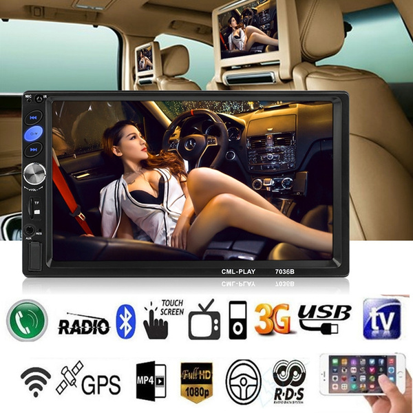 7036B 2din Bluetooth Car Radio 7 inch Touch mirrorlink Android Player  Subwoofer MP5 Player Autoradio