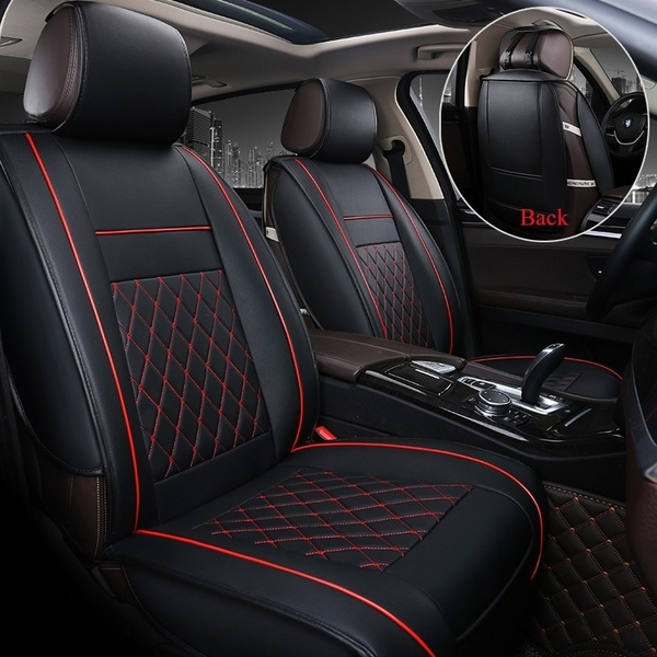 Universal Car Rear Seat Back Seats Cover Breathable PU Leather Pad Mats Cushion