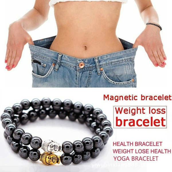 Magnetic Bracelet Beads Hematite Stone Therapy Health Care Magnet Weight Loss