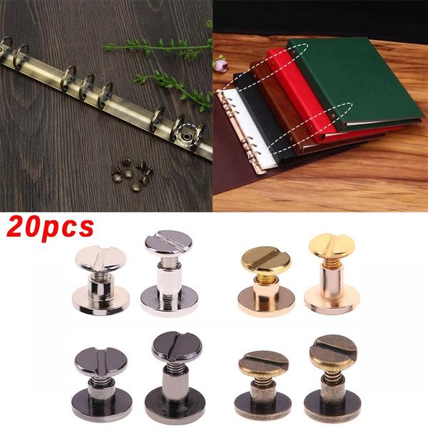20pcs Leather Craft Wallet bag Solid Brass Belt ARC Screw Luggage Nail  Rivet