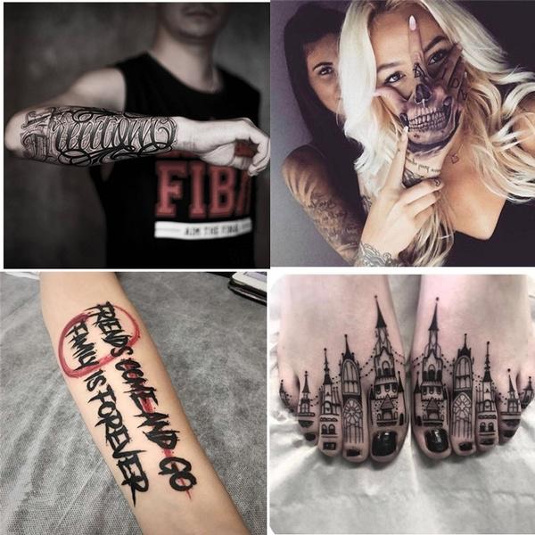 tattoo, waterprooftattoosticker, punk, Stickers