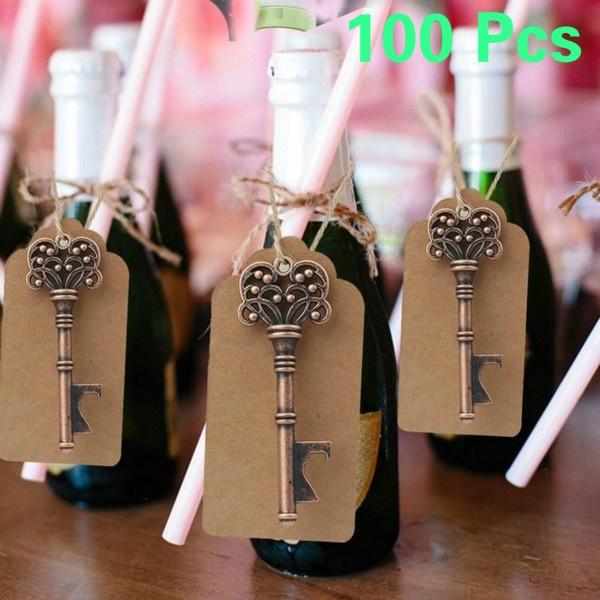 Key Chain, papertag, Wedding Favors, bottleopener
