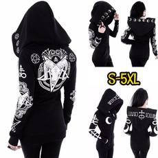 Casual Jackets, Goth, Plus Size, Long Sleeve
