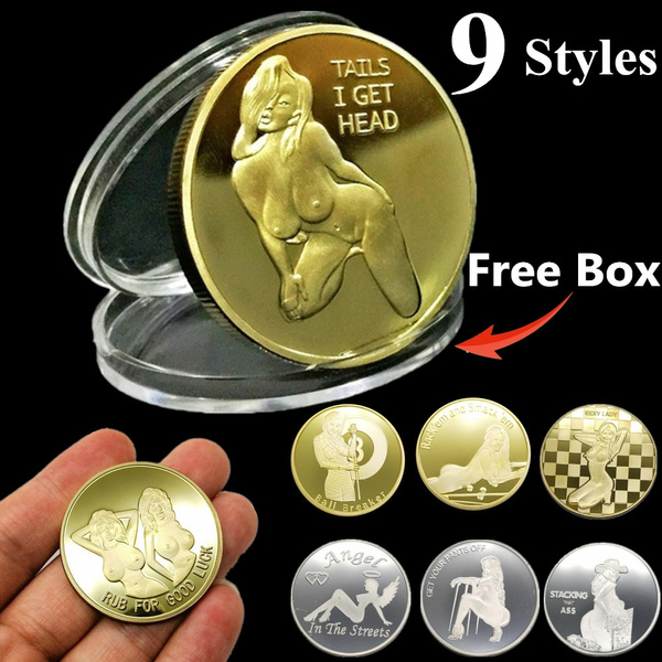 Lucky Girl Funny Coins Gold Plated